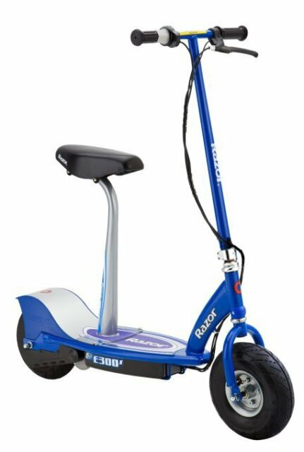 Razor E300s Seated Electric Motorized Scooter Blue For Sale Online Ebay