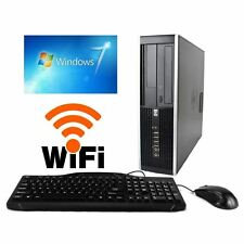 HP 8000 Core 2 Duo 3.0GHz Desktop Computer 4GB 250GB Windows 7 Pro 64 Bit Wifi