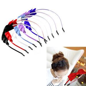 Girl-Women-Lady-Big-Bowknot-Ribbon-Hair-Accessory-Headband-Bow-Head-Band-Clip