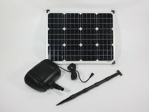 50 w solar bachlaufpumpe teichpumpe solarpumpe gartenteichpumpe pumpenset teich ebay. Black Bedroom Furniture Sets. Home Design Ideas