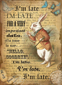 ALICE-IN-WONDERLAND-THE-WHITE-RABBIT-METAL-SIGN-MEDIUM-LARGE-SIZE-AVAILABLE