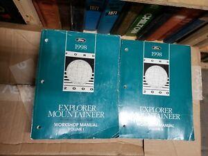 1998 ford explorer & mercury mountaineer truck service shop repair.