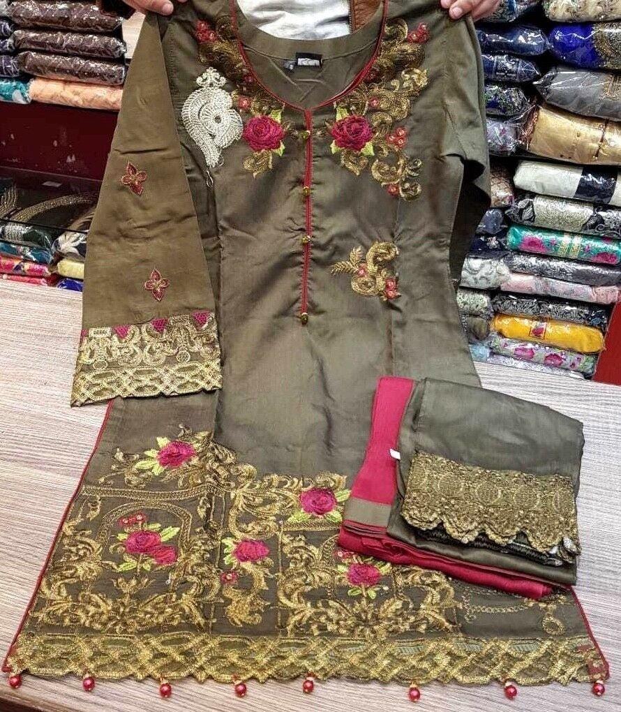 Asian Indian Pakistani Pakistani Pakistani Designer Readymade Anarkali Salwar Kameez Suit (S M L)  | Preisreduktion  | München Online Shop  | Verwendet in der Haltbarkeit  ad8049