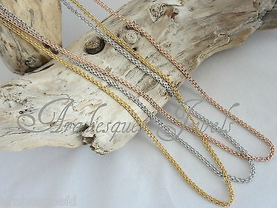 TWO TONE ROSE GOLD//SILVER HEAVY ROPE CHAIN FOR MI MILANO MONEDA NECKLACE AJMM