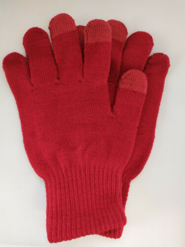 Erwachsene Touchscreen Magic Handy Handschuhe Stretch Winter Herren Damen UK