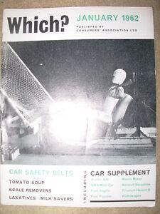 VINTAGE-WHICH-MAGAZINE-JANUARY-1962-CAR-SAFETY-BELTS-TOMATO-SOUP-LAXATIVES