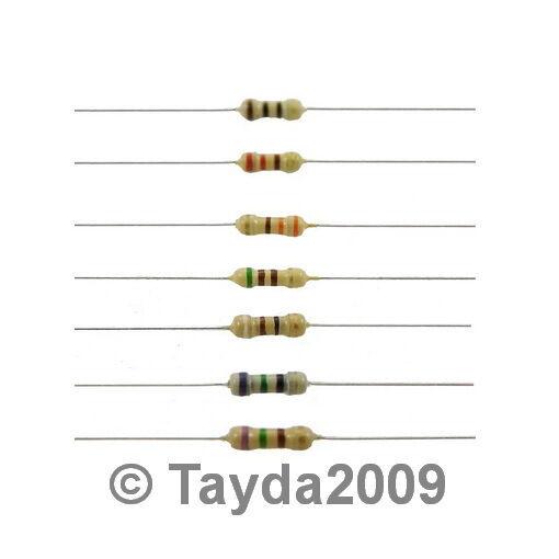 100 x Resistors 1K Ohms OHM 1/4W 5% Carbon Film