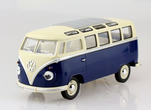 VW samba bus t1 azul 1:24 Kinsmart coche modelo bbb
