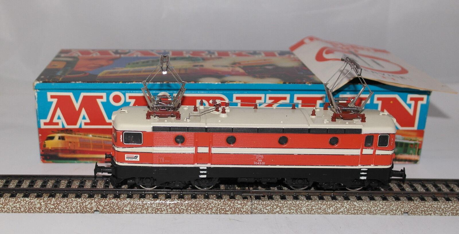 MARKLIN H0 : 3041 loco elettrica OBB ottima con scatola e libretto : anno 1973 +