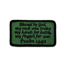 Tru-Spec 6605000 Morale Pvc Tactical Bible Psalm 27:1 Backpack Hook Patch