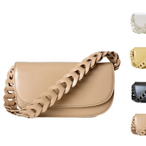 Woven-Leather-Wide-Strap-Real-Leather-Shoulder-Bag-Baguette-Crossbody-Flap-Purse