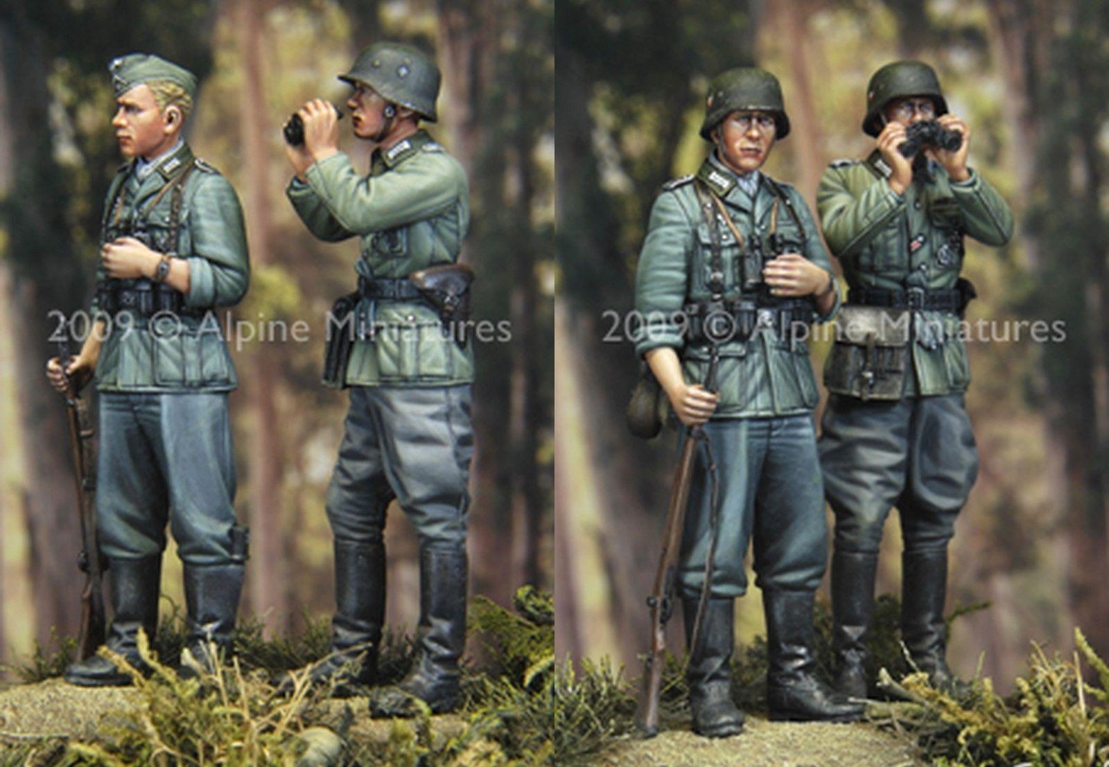 ALPINE MINIATURES, 35083, WW2 German Infantry 2 figures set, SCALE 1 35