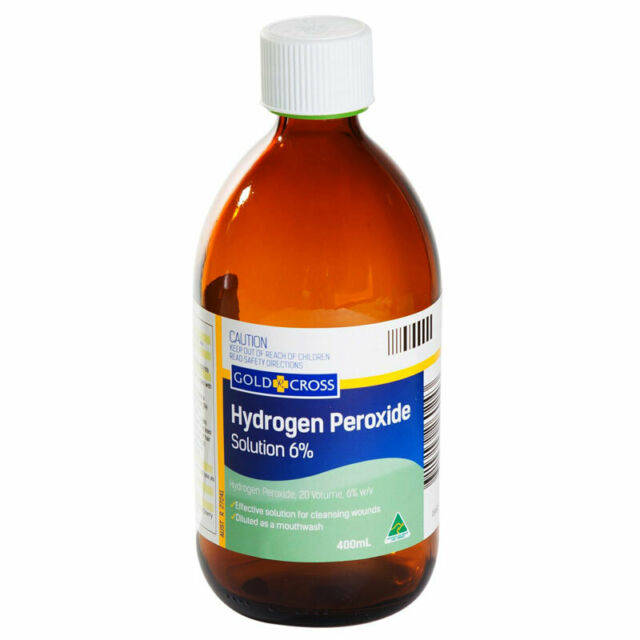 GOLD CROSS HYDROGEN PEROXIDE 6% W/V 20 VOLUME 400ML EFFECTIVE WOUND CLEANSING