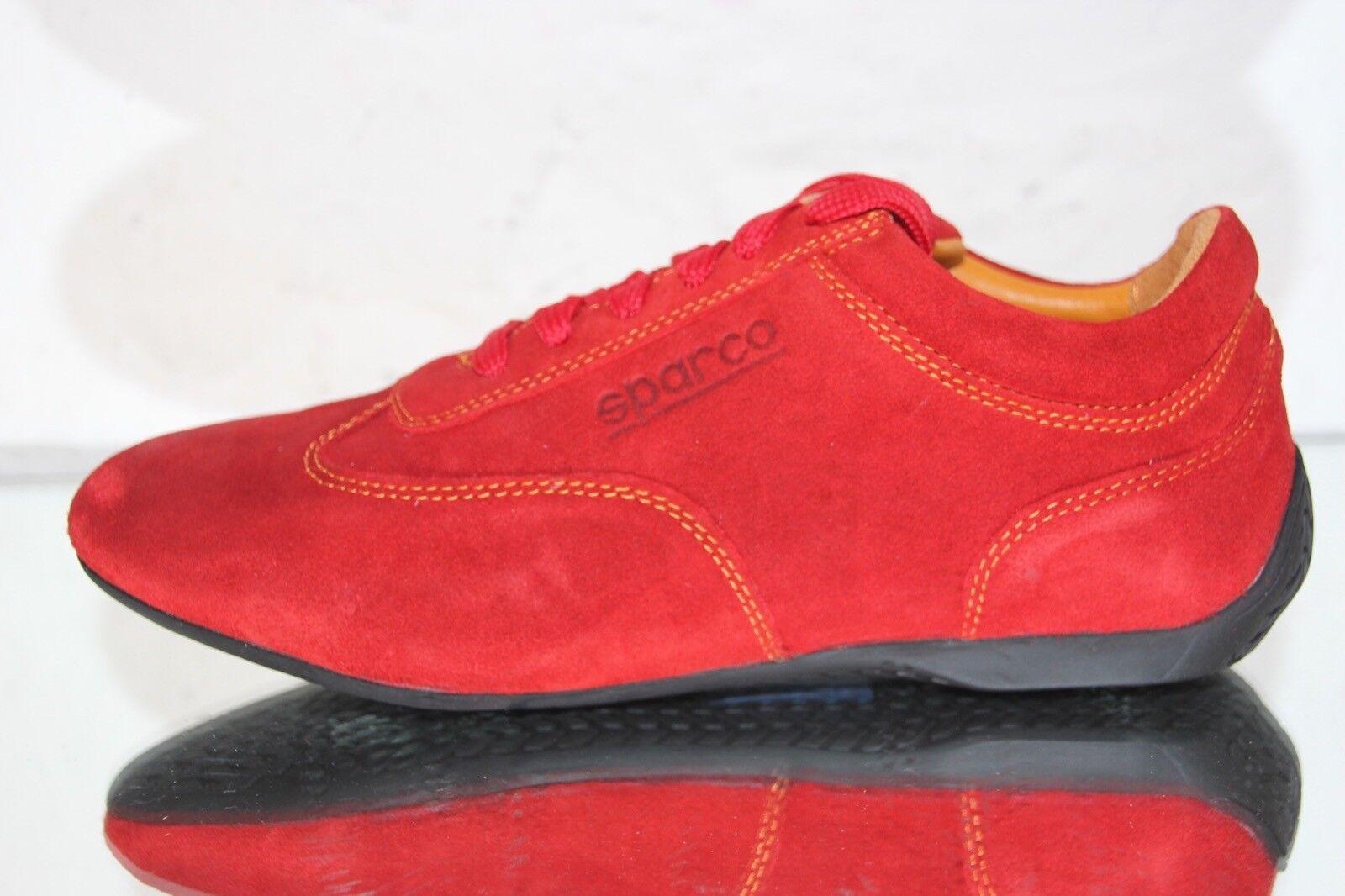 ☆ SPARCO Fahrerschuhe, Sneaker Racing Leder IMOLA rot rosso Gr.44 ☆ Ferrari Alfa