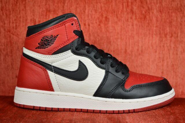 best loved 55666 978f3 Nike Air Jordan 1 Retro High OG Bred Toe Size 7y 575441 610