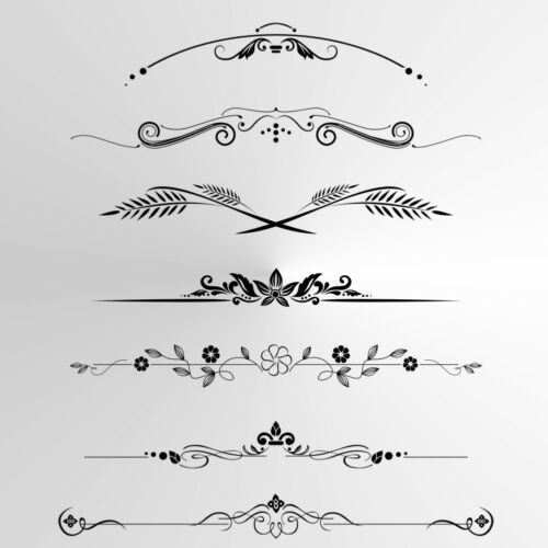 Ornament Borders BIG SIZES Reusable Stencil Wall Decor Shabby Chic Craft Deco2