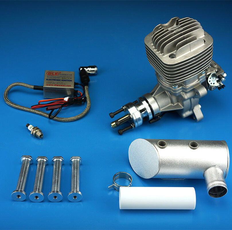 DLE-61cc Engine For Gas RC Airplane W  Exhaust & Ignition for RC Model