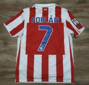 Atletico Madrid Jersey Shirt #7 Forlan Nike 100% Original M 2010/2011 Home USED