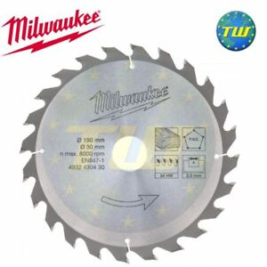 Milwaukee 4932430430 circular saw blade 190mm 24t 30mm bore wood image is loading milwaukee 4932430430 circular saw blade 190mm 24t 30mm greentooth Choice Image