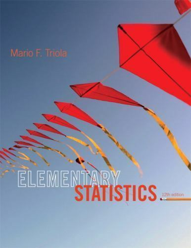 Elementary Statistics by Mario F. Triola (2012, Hardcover, 12th Edition)