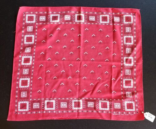 Vintage Red Tuside Fast Color 100% Cotton Bandana