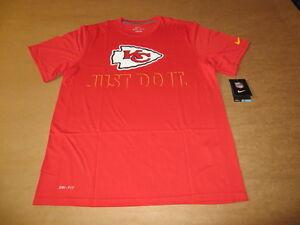 4a8a19c94 Kansas City Chiefs NFL JUST DO IT Men s Nike Dri Fit Red T-Shirt New ...