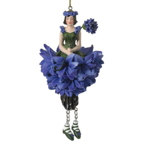Blumenmädchen Fee Deko Figur Elfe Kornblume hängend