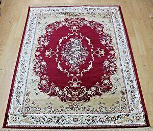 New-Red-Silk-Like-Traditional-Oriental-Design-Rug-Runner-Washable-carpet