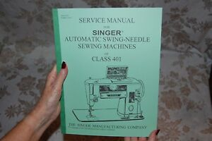 factory authorized service manual for singer 401 and 401a sewing rh ebay com Sewing Machine Singer 401A Manual Printable Singer Sewing Machine Manuals