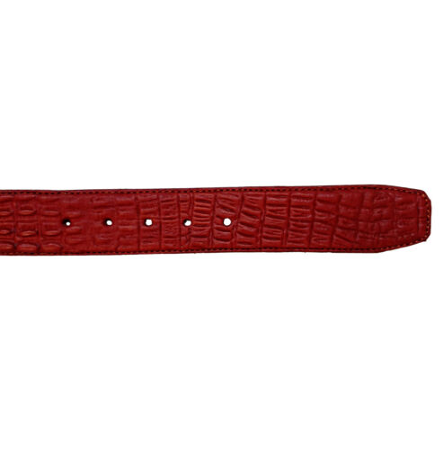 Men Cowboy Belt Engraved Imitation Caiman Cinto Vaquero Imitacion