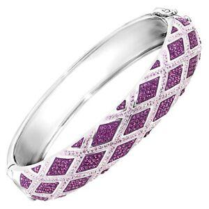 CRYSTALUXE-Harlequin-Bangle-Bracelet-avec-cristaux-Swarovski-en-argent-sterling
