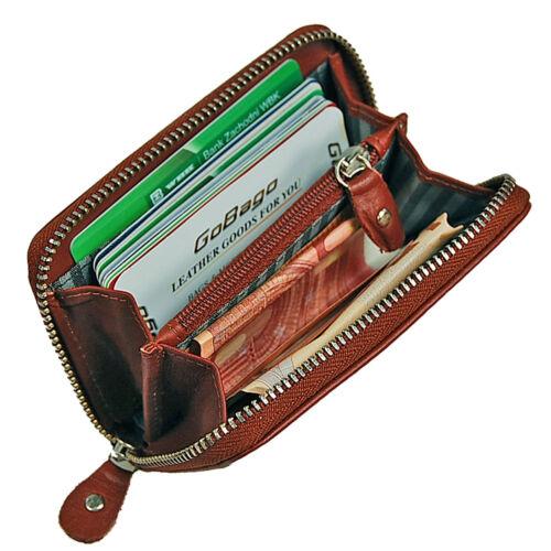 Boccx MINI CERNIERA RFID portafoglio in pelle Portafoglio münzbörse Borsa valori 10009