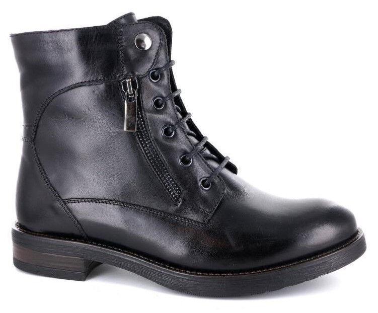 zapatos botas ANFIBIO mujer GIGLIO FIORENTINO PELLE PELLE PELLE TACCO BASSO 7701 COL negro  promociones emocionantes