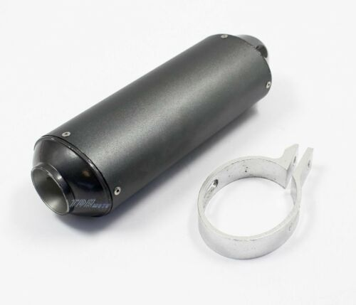 38mm Motorcycle Exhaust Muffler w// Clamp for Motorbike Dirt Scooter Motorcycle