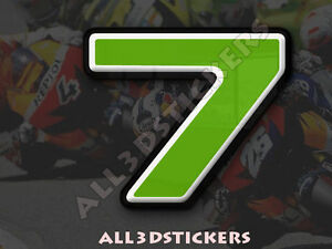 3D-Stickers-Resin-Domed-NUMBER-7-SEVEN-Color-Green-25-mm-1-inch-Adhesive