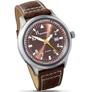 Sekonda-Bronze-Dial-Brown-Leather-Strap-Gents-Watch-3882
