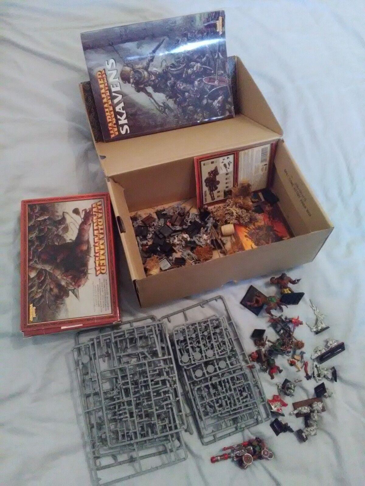 Lot Warhammer  Rats-Ogres et Rats Géants Skavens Boite Figurines metal plastique  le style classique