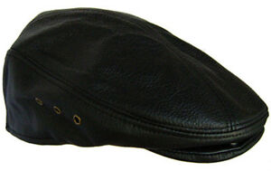 516dc77fcb7c0 Leather Newsboy Gatsby Cabbie Flat Driver Ivy Ascot Hat Cap Large ...