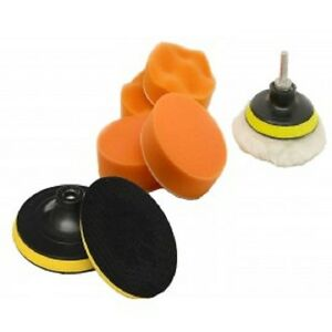 7-Pc-3-034-Polishing-Sponge-Pad-1-4-034-Drill-Adapter-Kit-Car-Auto-Polisher-Buffer-Kit