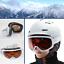 DAMEN-Skibrille-S2-orange-getoent-Anti-Fog-Panorama-Optik-Brille-weiss-yx32-3763 Indexbild 1