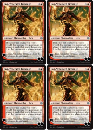 VENERATED FIREMAGE War of the Spark MTG Red Planeswalker Unc 4x JAYA