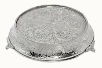 Glittering Silver Wedding Cake Stand Tapered 16 Round, New, Free Shipping on sale