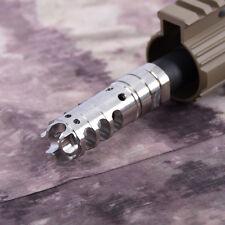 .223 1/2x28RH Thread Stainless Steel Muzzle Brake Pressure Reducer