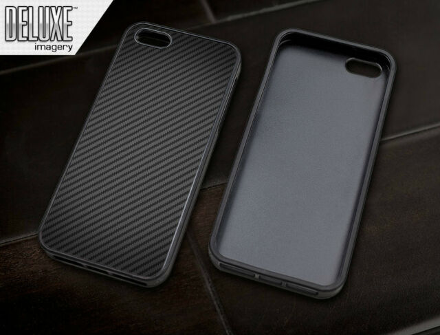 Carbon Fiber black rubber sleeve protector case cover for Apple iPhone 5 5s