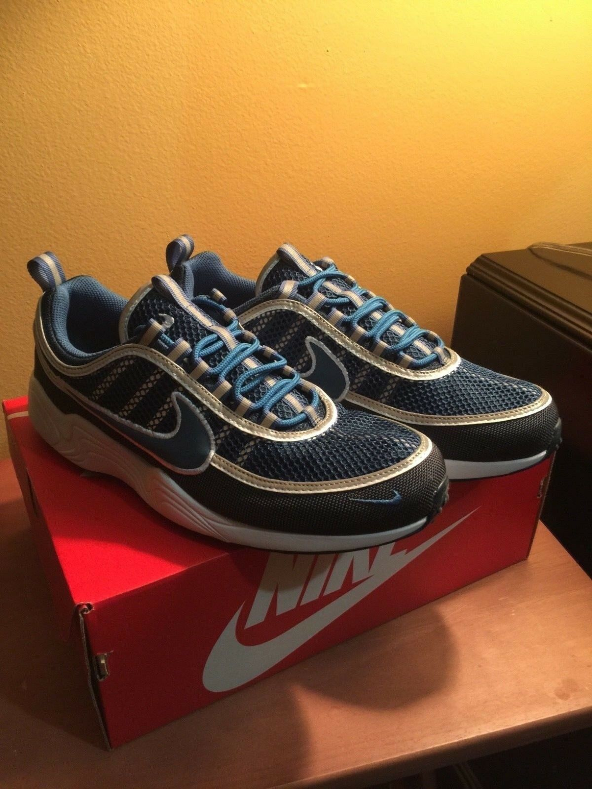 NIKE AIR ZOOM SPIRIDON '16 SZ 10 NAVY/BLUE 926955 400 SNEAKERS SHOES    Jordan