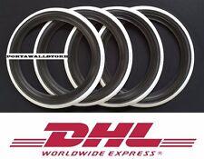 14'' Wheel Black and white wall Portawall tyre line Insert trim Set of4.