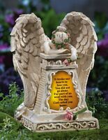 Solar Lighted Weeping Angel loved Ones Lost Garden Memorial Statue