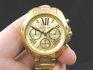 11b17bfa1f5d NEW OLD STOCK MICHAEL KORS BRADSHAW MK5798 GOLD PLATED QUARTZ WOMEN ...