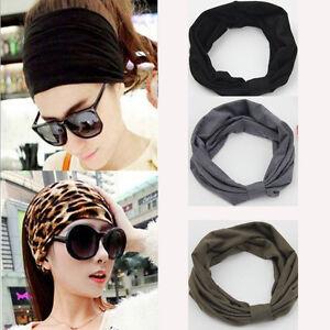Fashion Women Ladies Wide Headbands Sport Yoga Dance Turban Headwear ... e27e84aa123