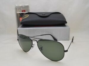 2912ff71982 Ray Ban LARGE METAL (RB3025-002 58 55) Black with Crystal Green ...
